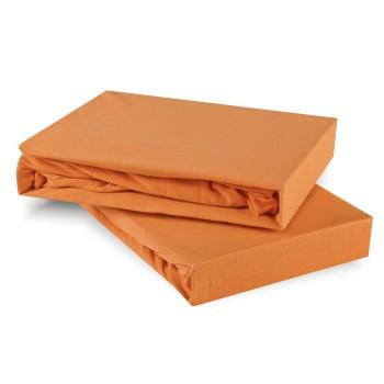 Plachta posteľná oranžová marhuľová jersey EMI