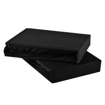 Plachta posteľná čierna jersey EMI