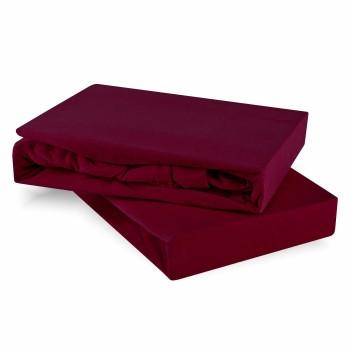 Plachta posteľná bordová jersey EMI