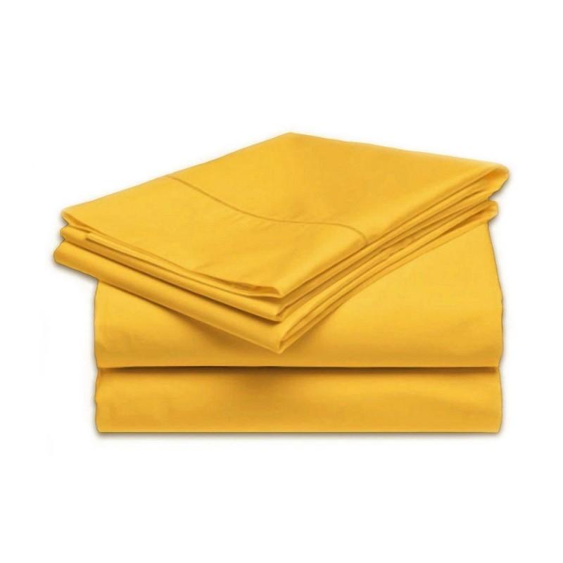 plachta posteľná oranžová pevná EMI