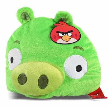 Dekoratívny vankúš Angry Birds zelený