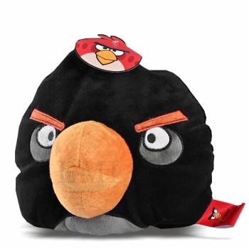 Dekoratívny vankúš Angry Birds čierny
