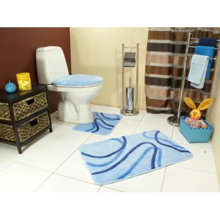 Kúpeľňový koberec Piola modrý set Kontrast