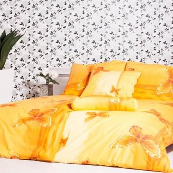 Obliečky bavlnené motýle oranžové EMI