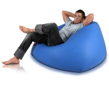 sedací vak guľa modrá EMI