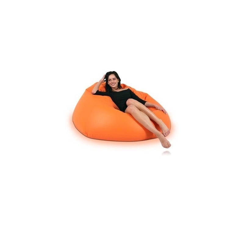 sedací vak guľa oranžová EMI