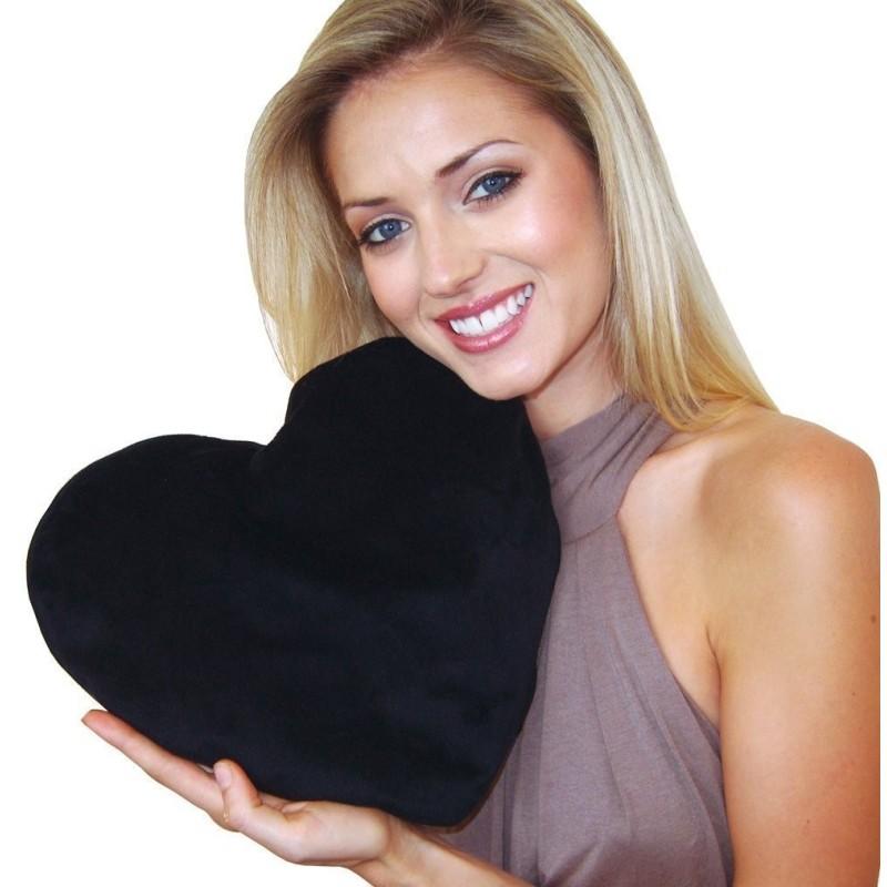 Vankúš 40X45 srdce čierne EMI