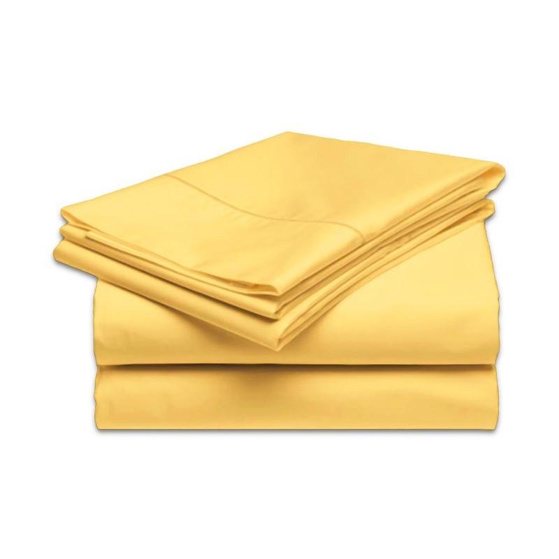 plachta posteľná žltá pevná EMI