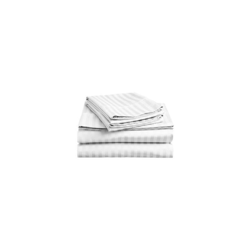 Plachta posteľná pevna damašková 140x220 biela EMI