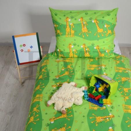 Obliečky detské žirafy zelené EMI