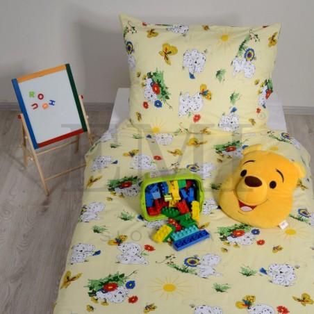 Obliečky detské bavlnené dalmatínec žltý EMI