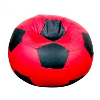 Sedací vak futbalová lopta červenočierna EMI