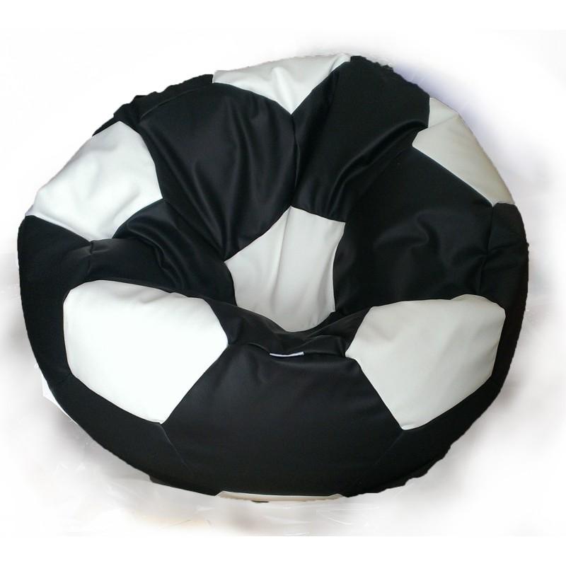 Sedací vak futbalová lopta čiernobiela EMI