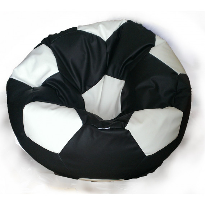 Sedací vak futbalová lopta malá bielooranžová