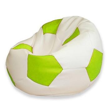 Sedací vak futbalová lopta bielolimetková EMI