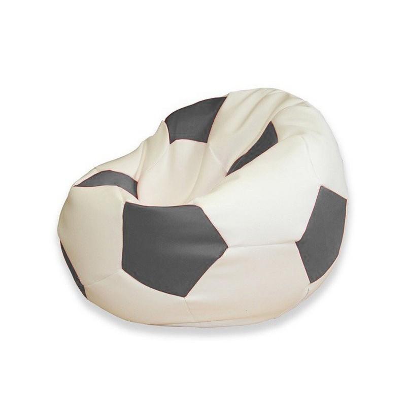 Sedací vak futbalová lopta bielosivá EMI