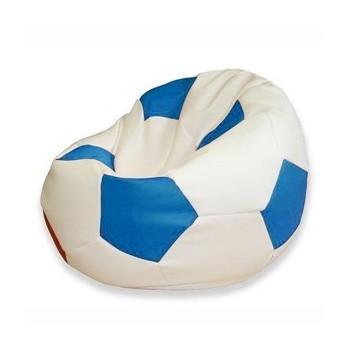Sedací vak futbalová lopta bielomodrá EMI