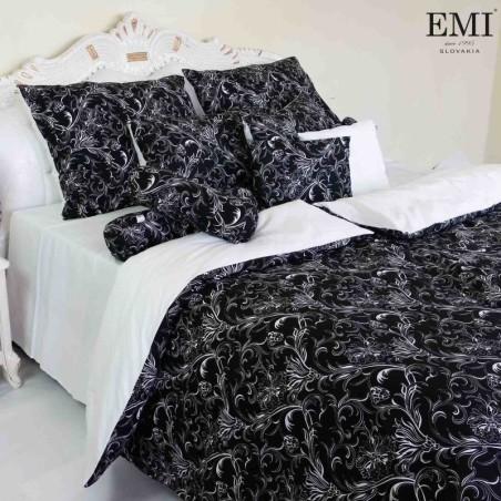 Obliečky ornament čiernobiely EMI