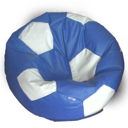 Sedací vak futbalová lopta modro-biela EMI