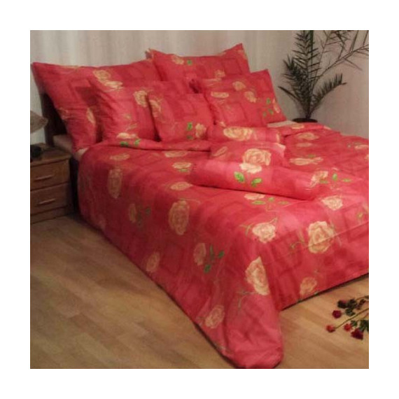 Obliečky Eliška ružovo-červené satén EMI