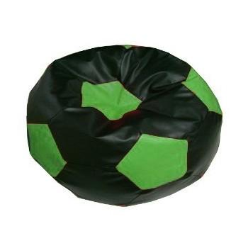 Sedací vak futbalová lopta čiernozelená EMI