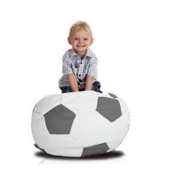 Sedací vak futbalová lopta malá bielosivá EMI