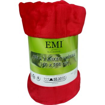 Deka červená 150x200 cm EMI