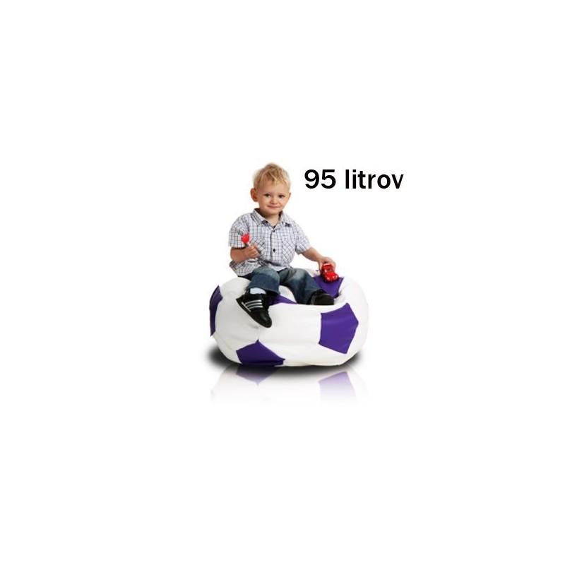 Sedací vak futbalová lopta malá bielofialová EMI