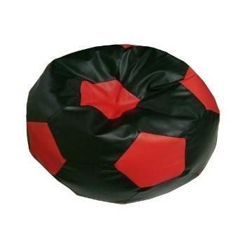 Sedací vak futbalová lopta malá čiernočervená EMI