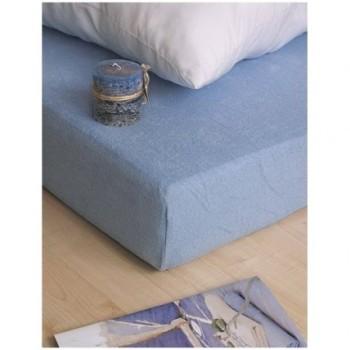 Plachta posteľná modrá froté EMI