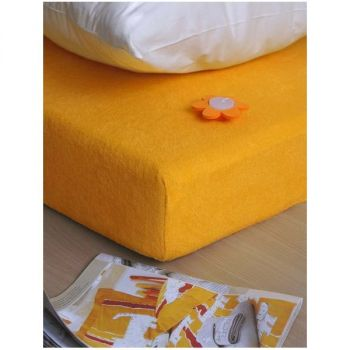 Plachta posteľná žltá froté EMI