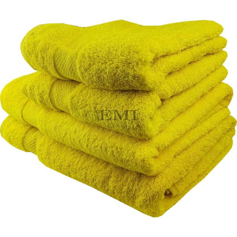 Osuška bavlnená sýta žltá 70x140 cm EMI