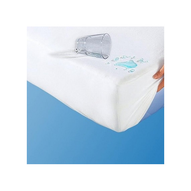Plachta posteľná nepremokavá biela s gumičkou po obvode EMI