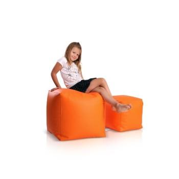 Sedací vak taburetka kocka malá oranžová EMI