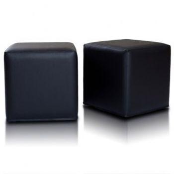 Sedací vak taburetka kocka hnedá EMI