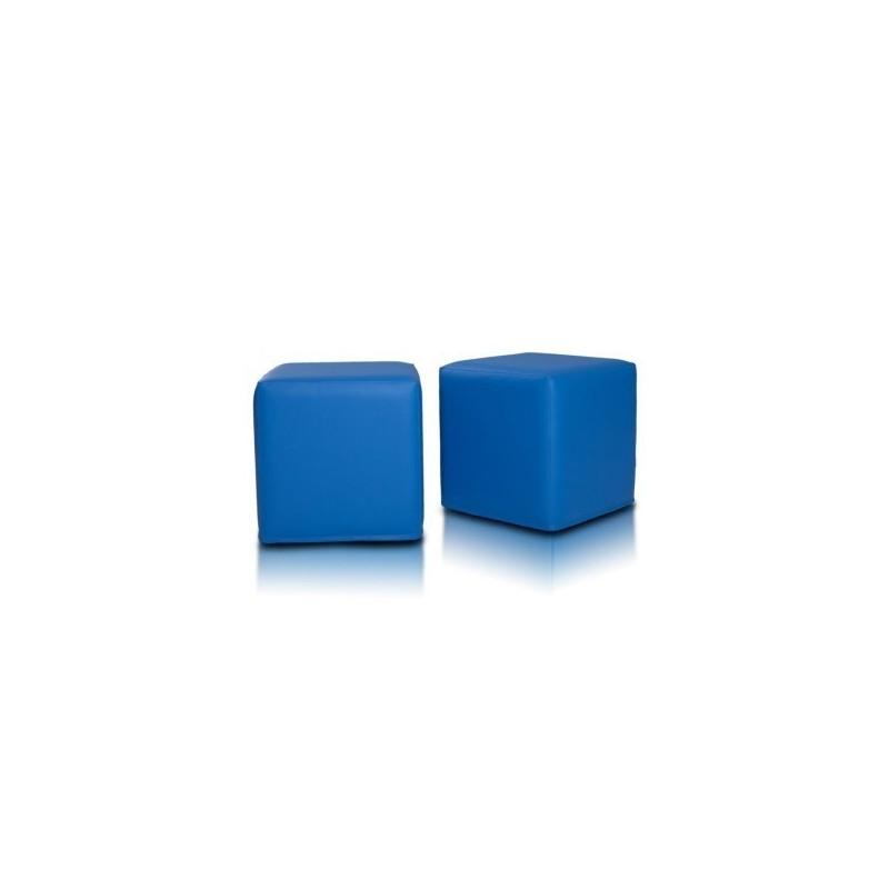 Sedací vak taburetka kocka modrá EMI