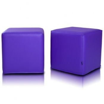 Sedací vak taburetka fialová