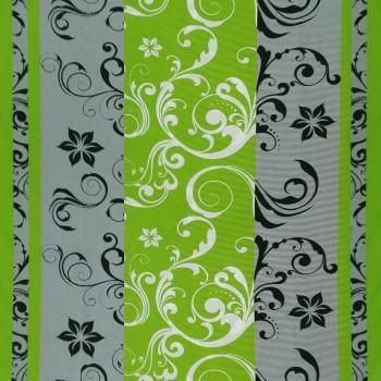 Látka metráž bavlna 100% Don Lilien zeleno-sivé CNM