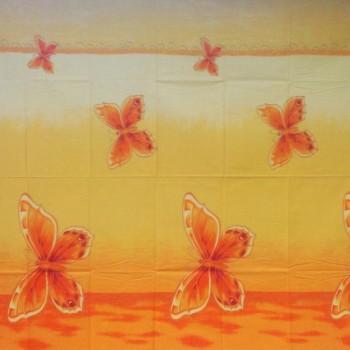 Látka metráž bavlna 100% Don motýle oranžové CNM