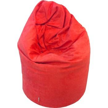 Sedací vak hruška semišová červená EMI