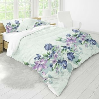 Obliečky Riella lila kombinované EMI