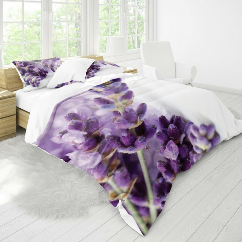 Obliečky Levanduľa fialové kombinované EMI