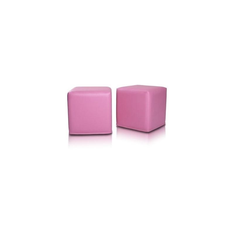 sedaci vak taburetka kocka ružová