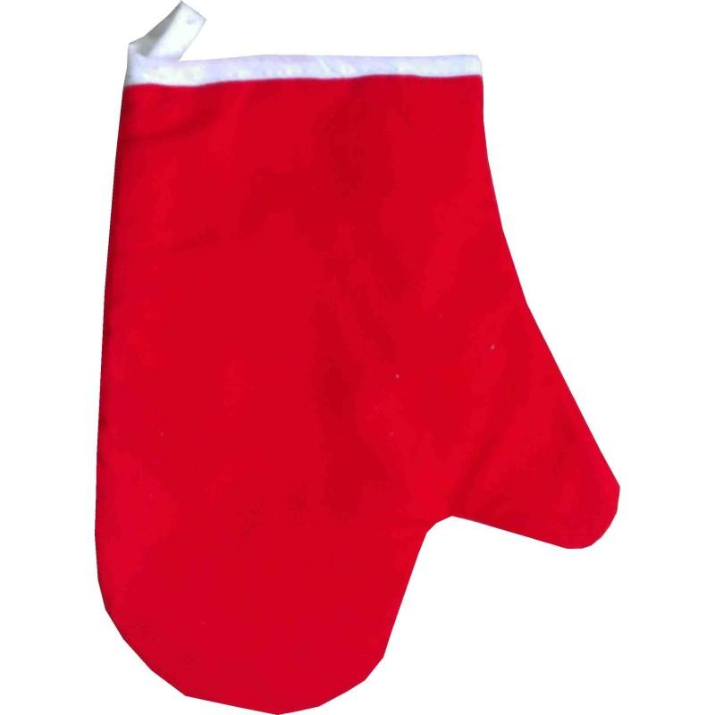 Chňapka jednofarebná červená