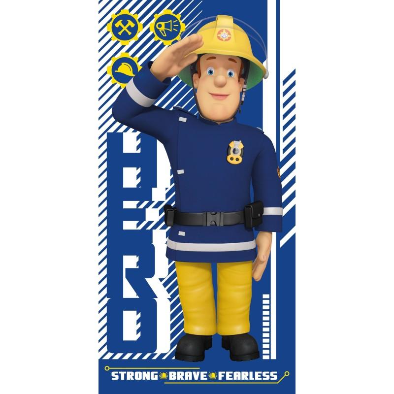 FARO osuška Požiarnik Sam MODRÁ 70x140 cm
