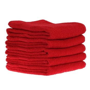 Detský uterák bavlnený 30x50cm červený EMI