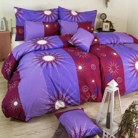 Obliečky bavlnené Tilia fialové EMI