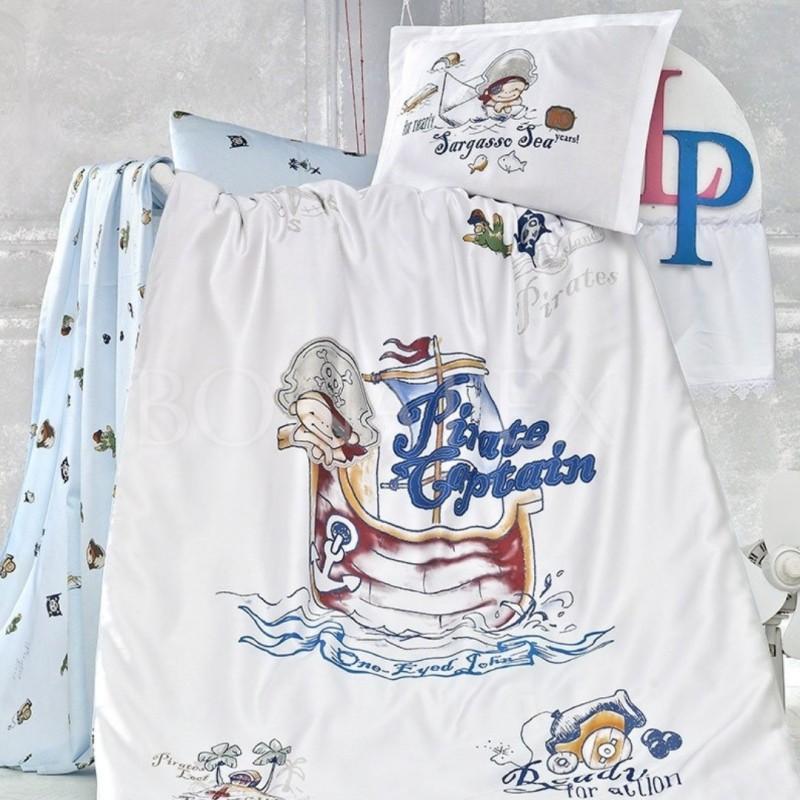 Detské obliečky Pirate modré