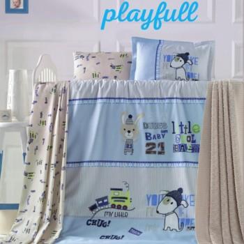 Detské obliečky Playfull modré