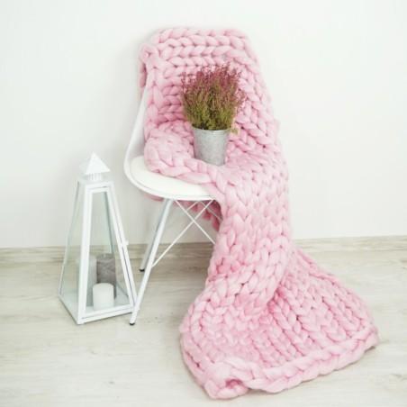 Pletená deka ružová 120 x 150 cm EMI